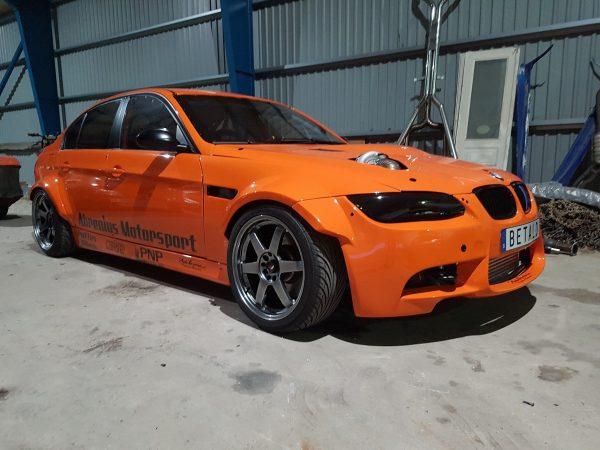BMW E90 with a turbo M50 inline-six