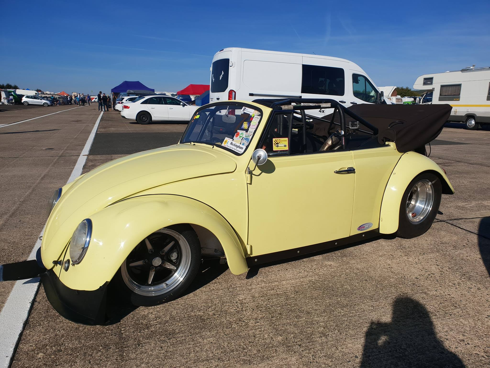 Beetle Cabriolet with a turbo 2600 cc flat-four