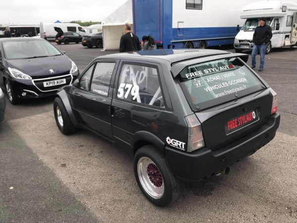 Citroën AX with a 850 hp turbo inline-four