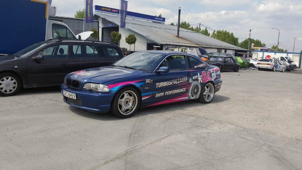 K64 BMW E46 with a turbo M50 inline-six
