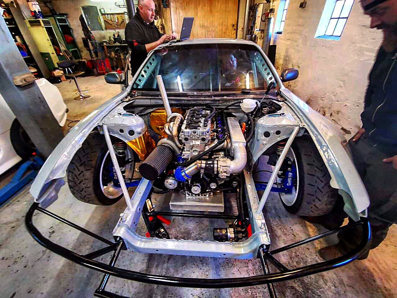 Nissan S14 with a turbo VW inline-five