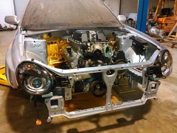V8WRX Subaru LSx V8 tubular subframe kit