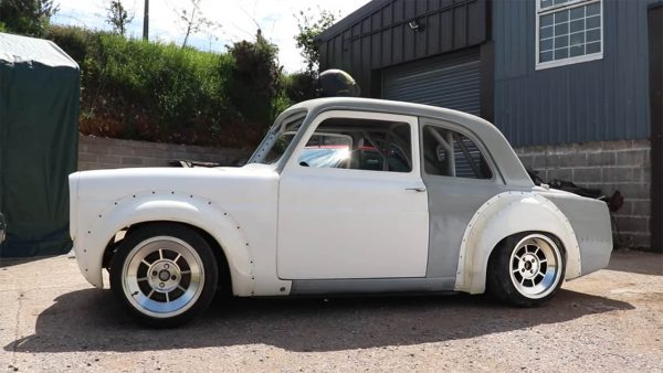 1959 Ford Prefect 100E with a MX-5 powertrain and suspension