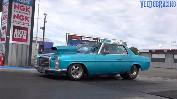 1975 Mercedes 280CE with a 434 ci Chevy V8
