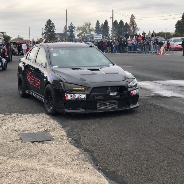 English Racing Mitsubishi Evo X with a turbo 4B11T inline-four