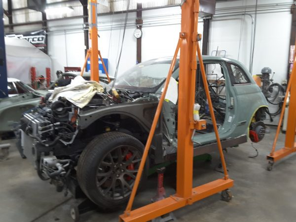 Fiat 500 on a Dodge Hellcat chassis and powertrain