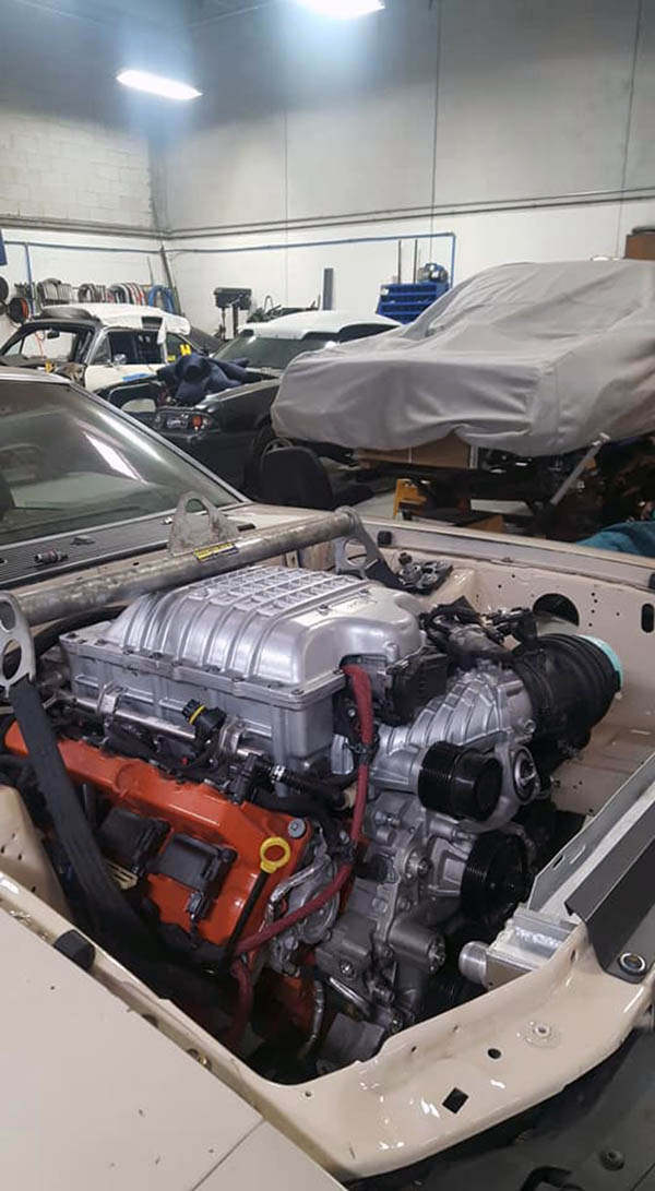 Building a Fox Mustang with a Supercharged Hellcat V8