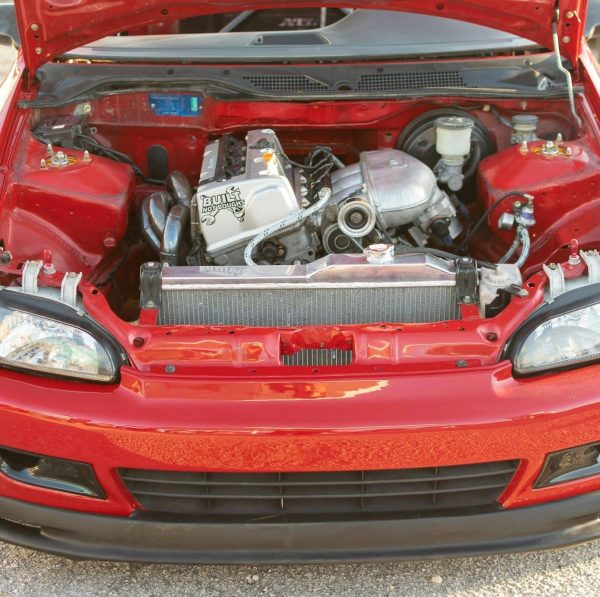 Honda Civic EG6 with a K24 inline-four and RWD drivetrain