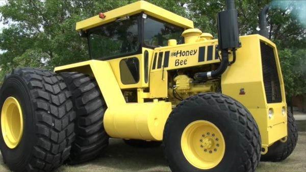 Honey Bee custom 2WD Tractor with a Cummins V12