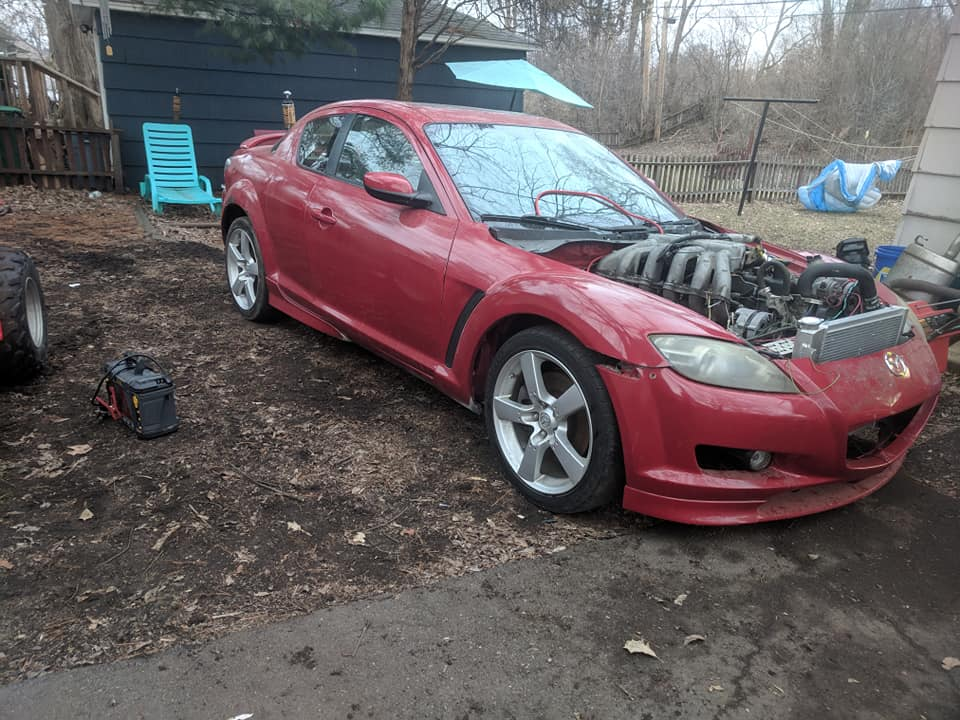 Mazda RX-8 with a Ford 300 ci Inline-six