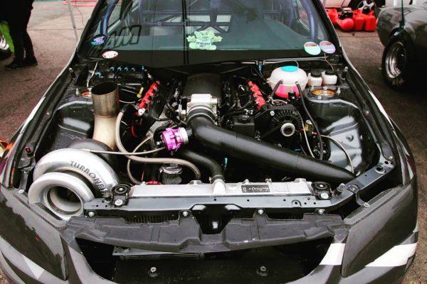 Mitsubishi Evo 8 with a Turbo LSx V8