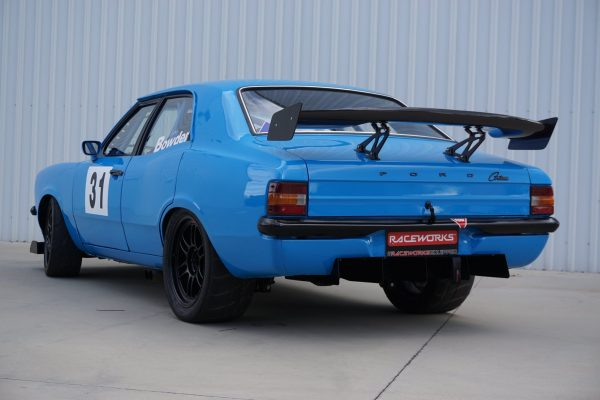 1973 Ford Cortina with a turbo Barra inline-six