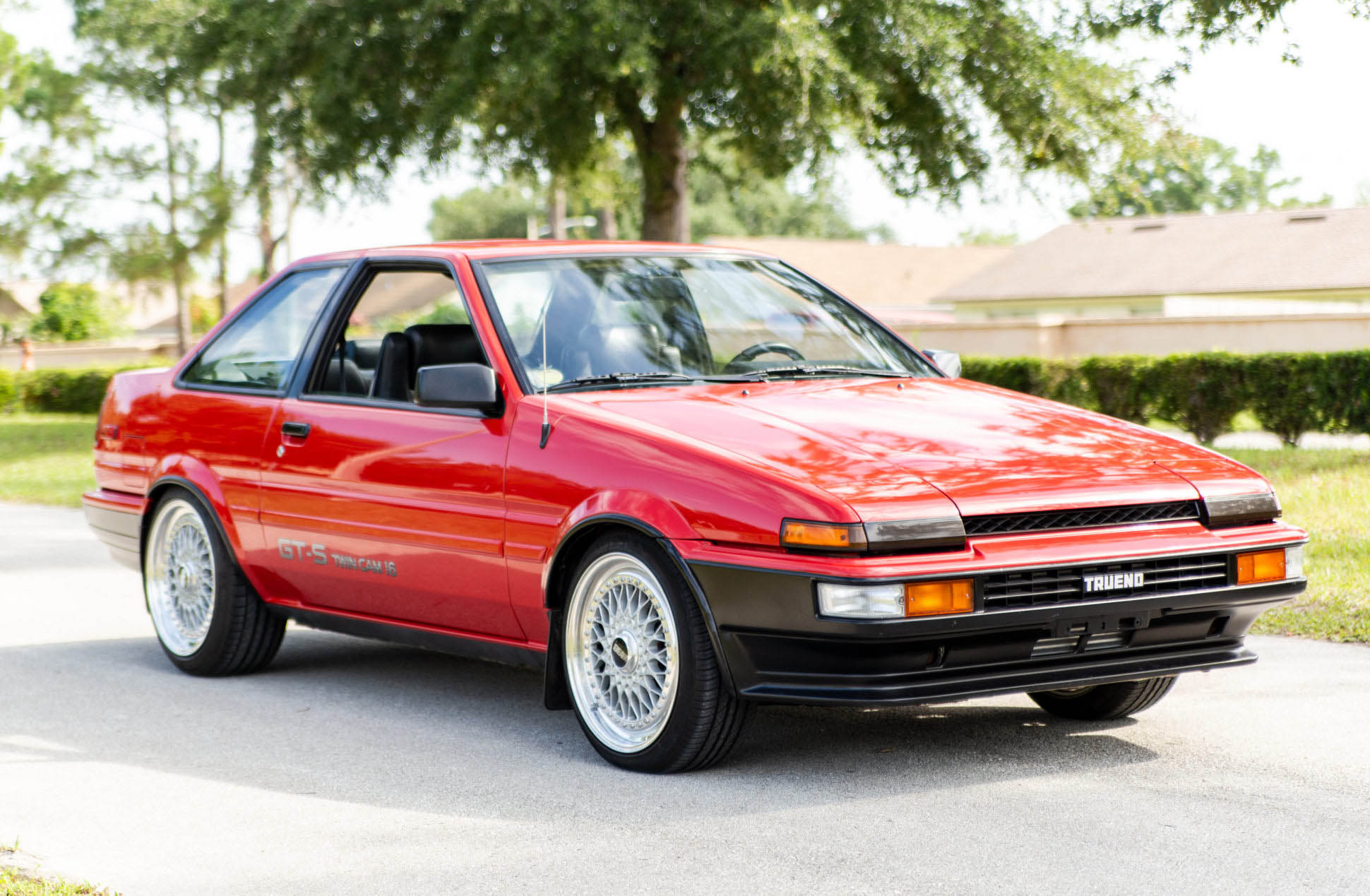 1987 Corolla GT-S with a turbo 2.4 L Honda F-series inline-four