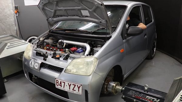 Daihatsu Charade with a turbo 1.3 L K3 inline-four