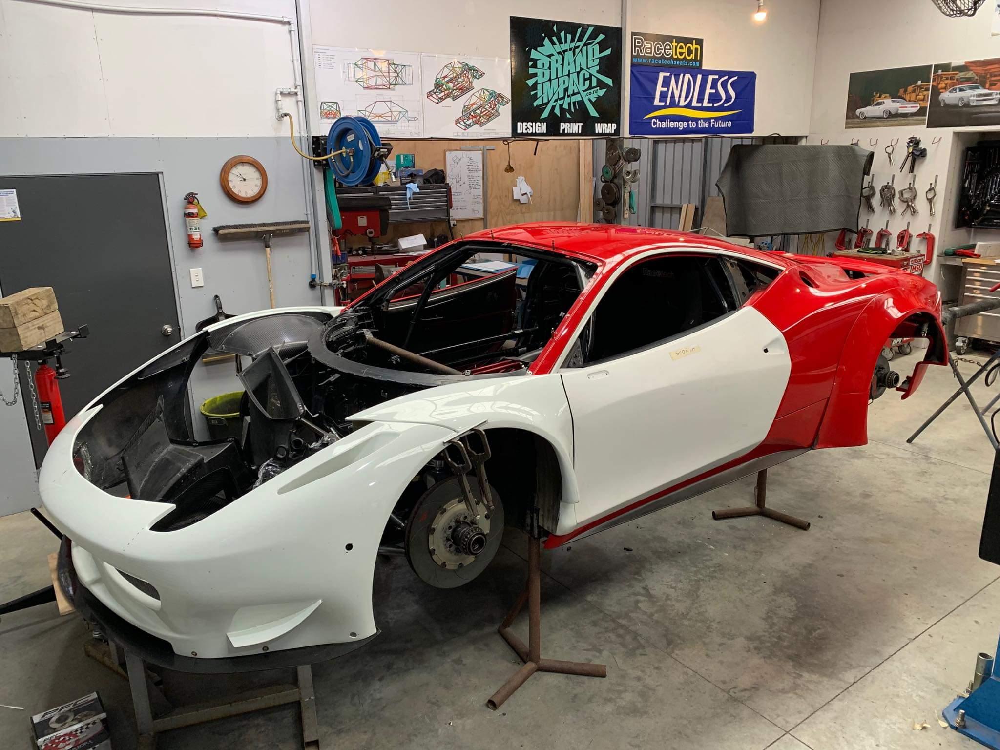 Ferrari 458 Gt3 With A Chevy Indycar V8 Engine Swap Depot