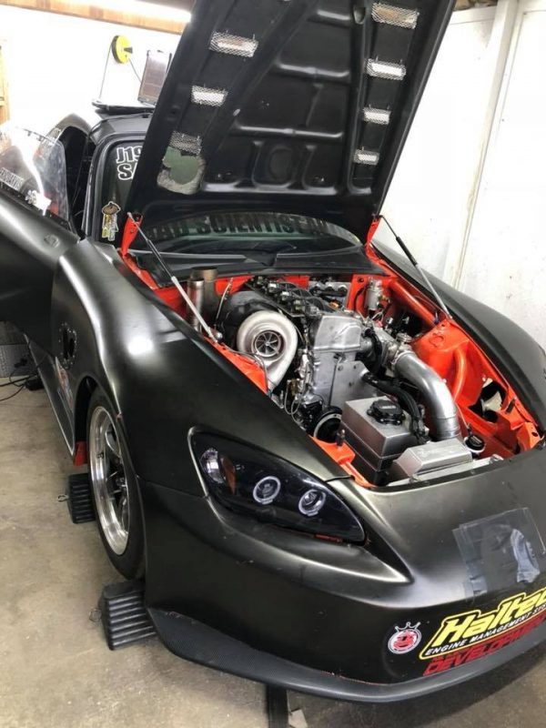 Honda S2000 with a turbo K20-K24 inline-four