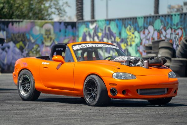 Mazda Miata with a supercharged Hellcat V8