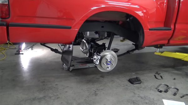 Project Firebolt Ford 8.8 inch rear end under Toyota Tacoma