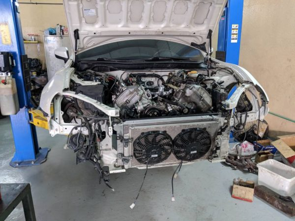 Toyota GT86 with a 3UR-FE V8