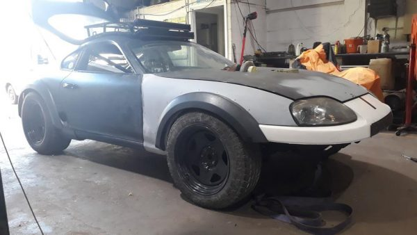 Toyota Supra with a 6BT Turbo Diesel Inline-Six