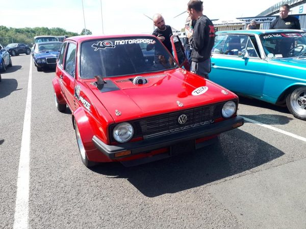 VW Golf Mk1 with a 1.9 TDI turbo diesel inline-four