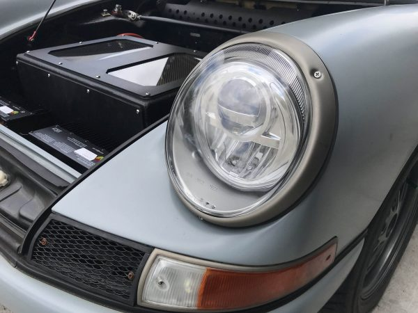 1968 Porsche 912 with a Tesla Model S electric motor
