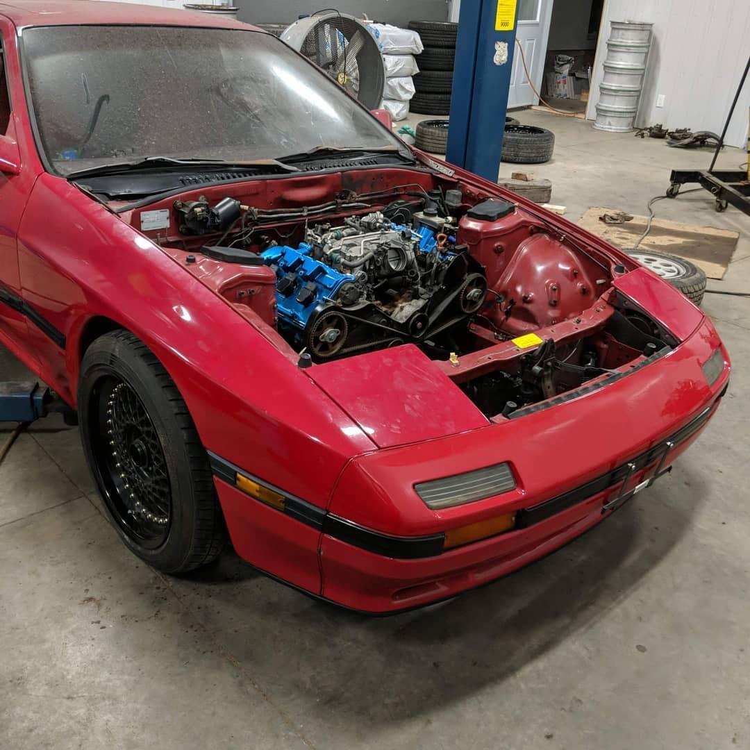 1986 Mazda RX-7 with a Turbo Audi V6