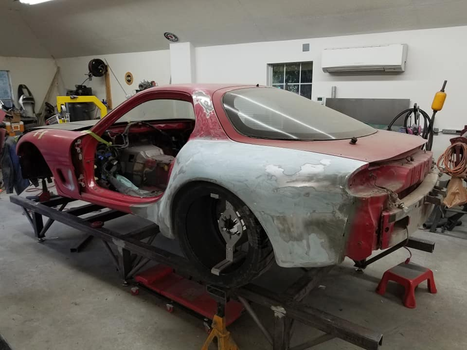 Building an AWD Mazda RX-7 with a Twin-Turbo 26B Quad-Rotor