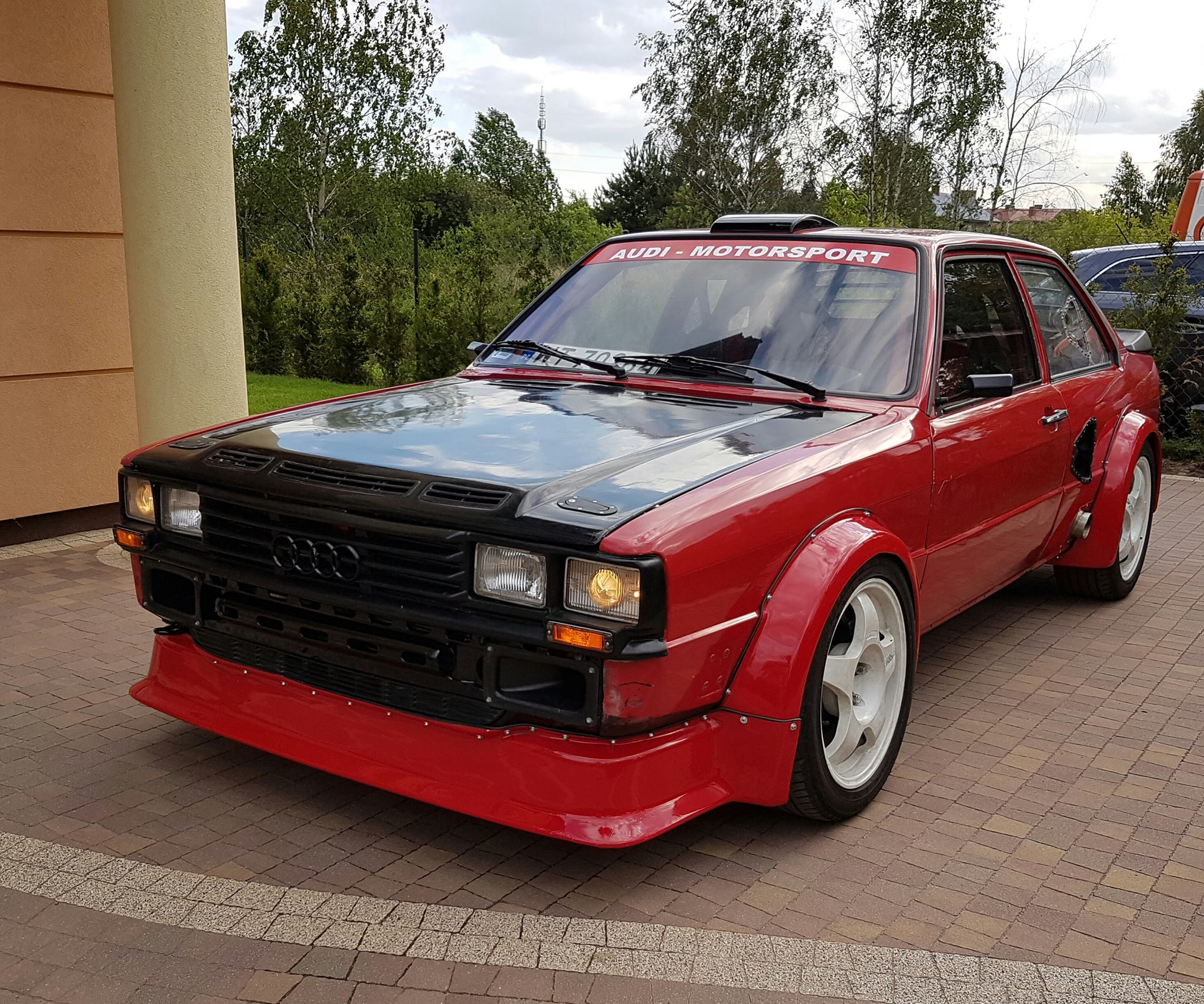 Audi 80 B2 with a turbo VR6