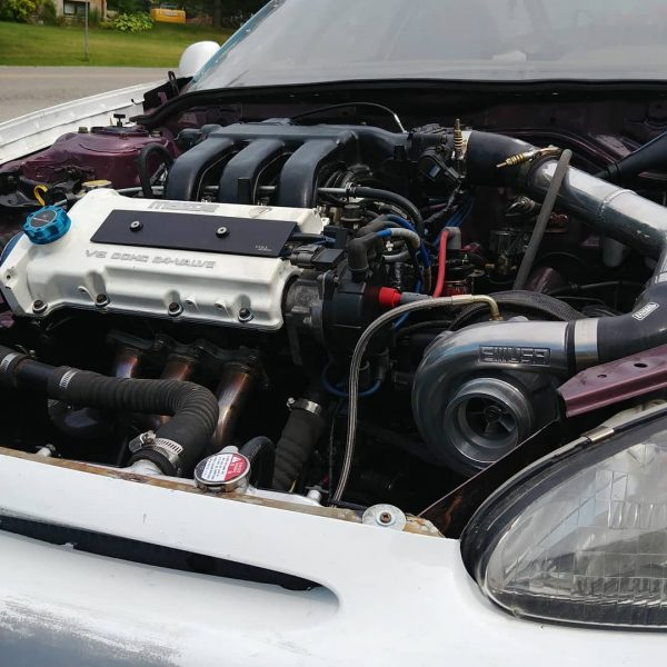 Mazda MX-3 with two turbo KL-ZE V6 engines