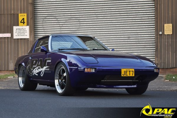 Mazda RX-7 with a turbo 13B-RE two-rotor