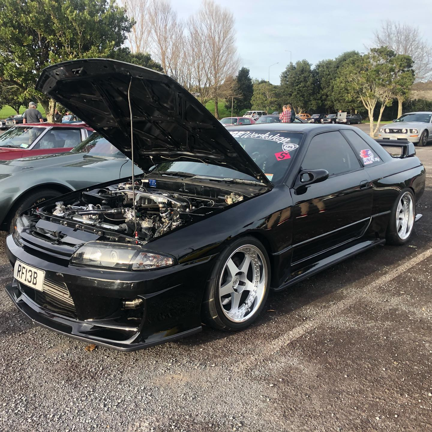 Nissan R32 Skyline with a turbo 13B two-rotor