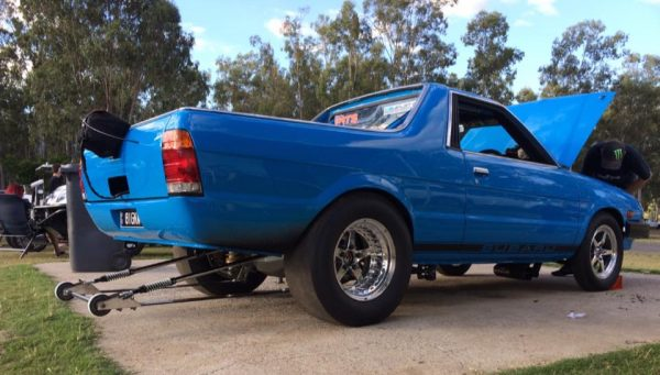 Subaru Brumby Ute with a turbo EJ25 flat-four