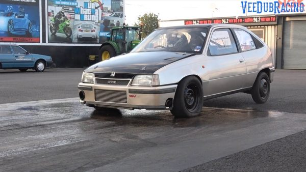 Vauxhall Astra GTE with a turbo C20LET inline-four