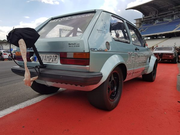 16Vampir Golf Mk1 with a turbo 2.0 L inline-four