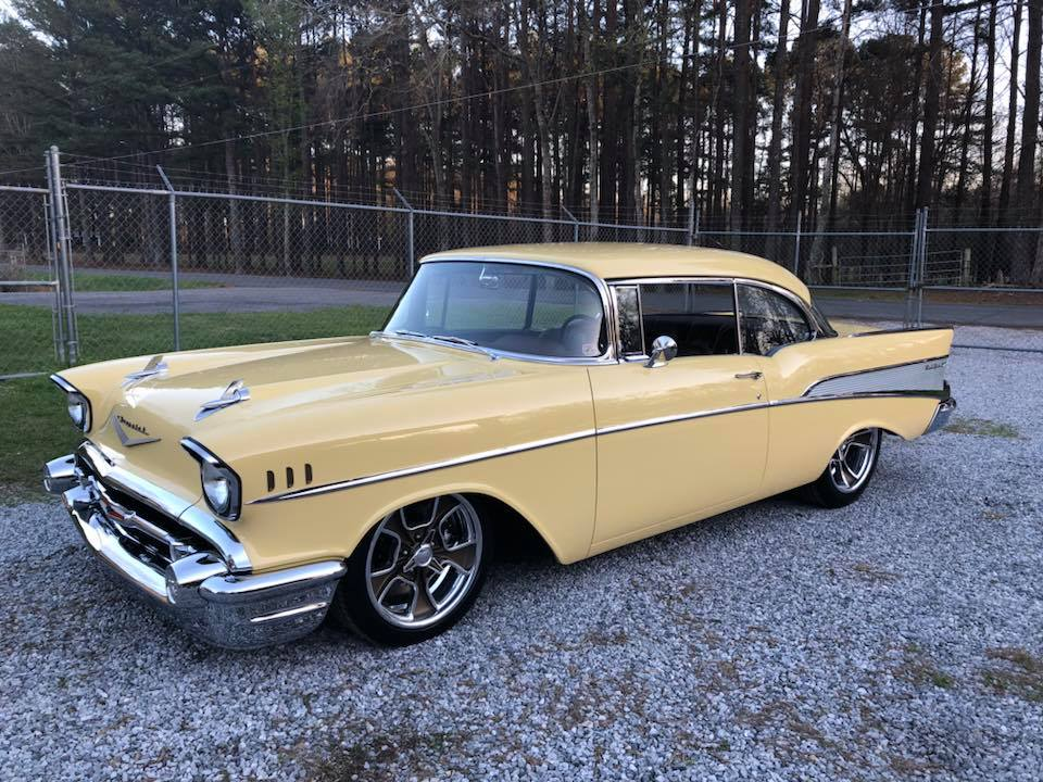 1957 Chevy Bel Air with a supercharged LS7 V8