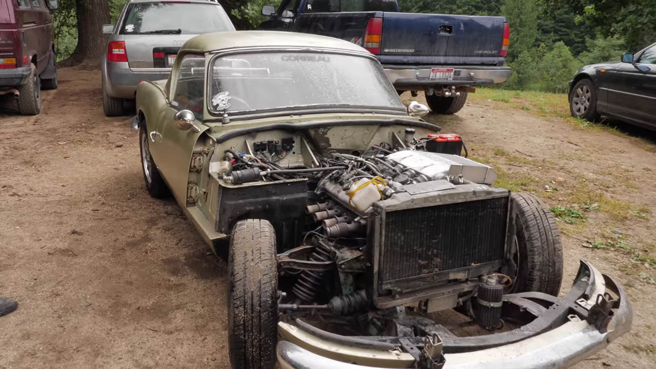 1962 Triumph Spitfire with a supercharged Yamaha RX-1 inline-four