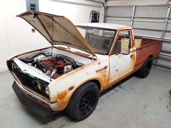 1973 Datsun 620 Truck with a turbo CA18DET inline-four
