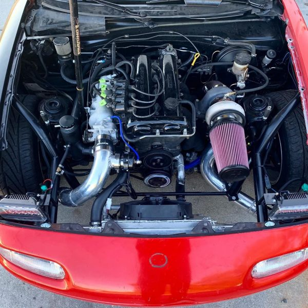 1994 Miata with a turbo 1.8 L inline-four