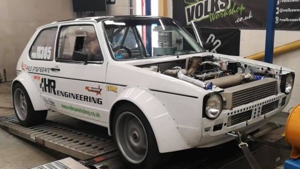 AWD Golf Mk1 with a turbo 1.8T inline-four