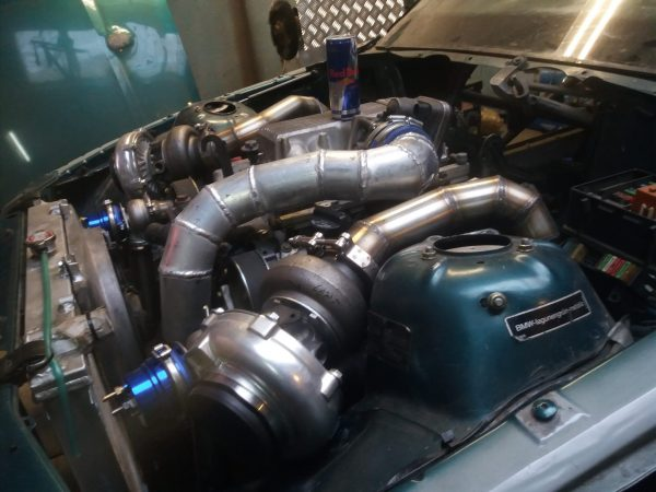 BMW E36 with a Twin-Turbo 1UZ V8