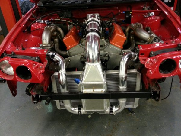 Escort Cosworth with a Twin-Turbo Chevy V8