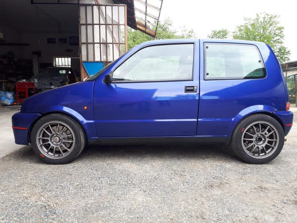 Fiat Cinquecento with a turbo 1.4 L T-Jet inline-four