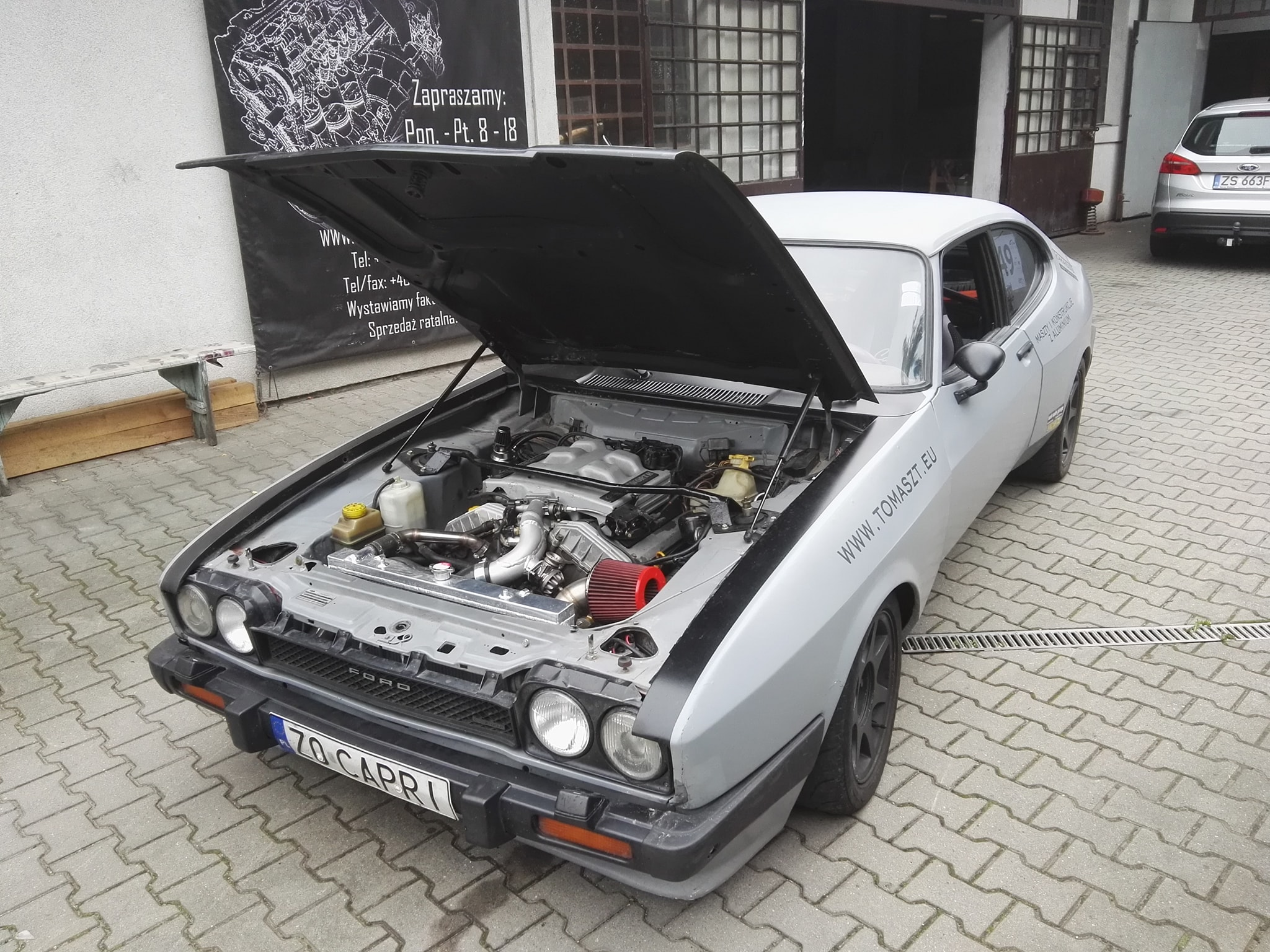 Ford Capri Mk3 With A Turbo Cosworth V6 Engine Swap Depot