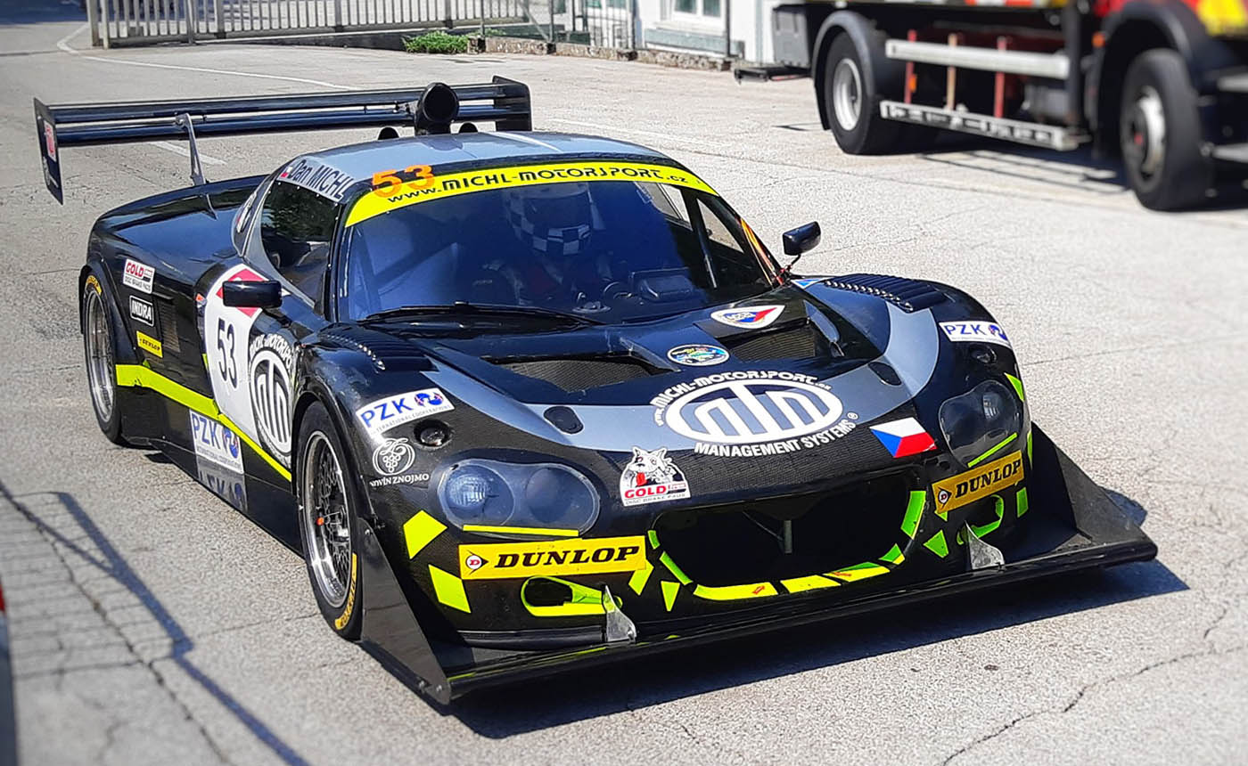 Michl Motorsport Lotus Elise with a Hartley V8