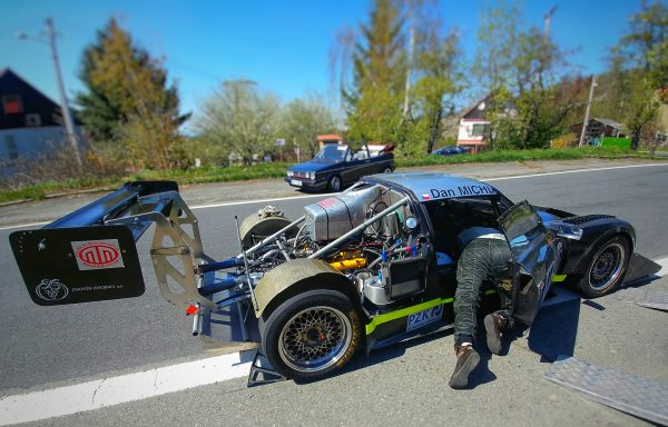 Michl Motorsport Lotus Elise with a Hartley V8