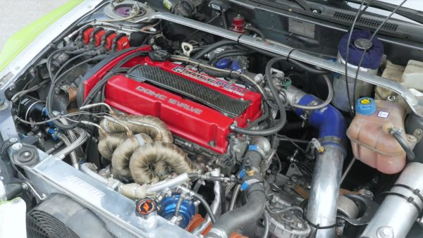 Mitsubishi Colt with a turbo 2.3 L 4G63 inline-four and Evo 7 drivetrain