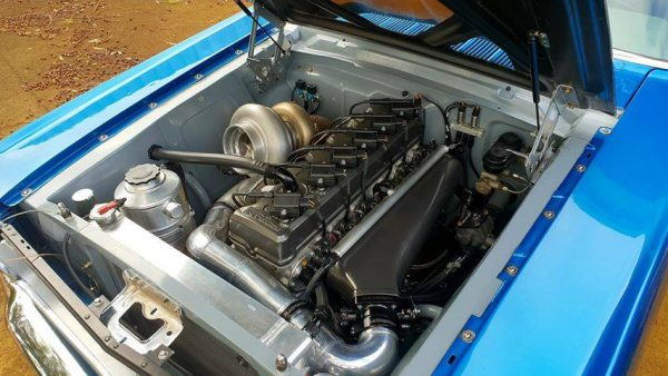 1965 Mustang with a Turbo 3.8 L Intech Inline-Six