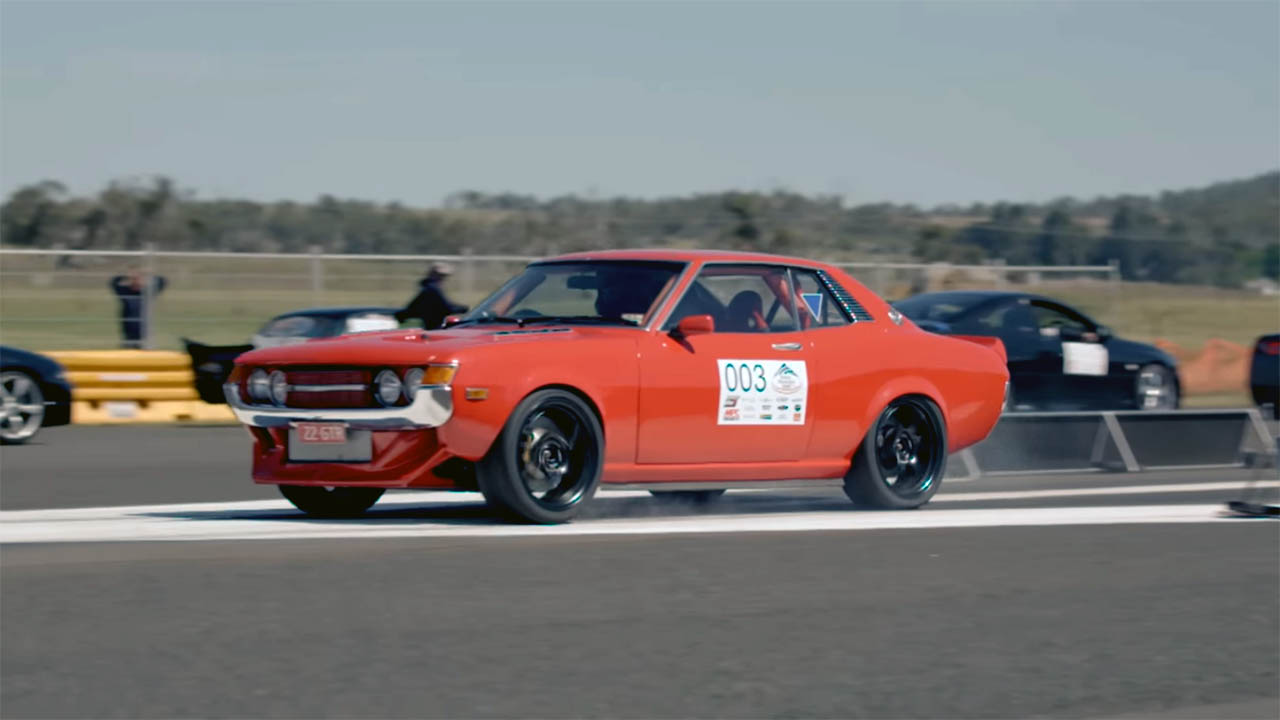 1971 Celica with a turbo 1UZ V8 and GTR drivetrain