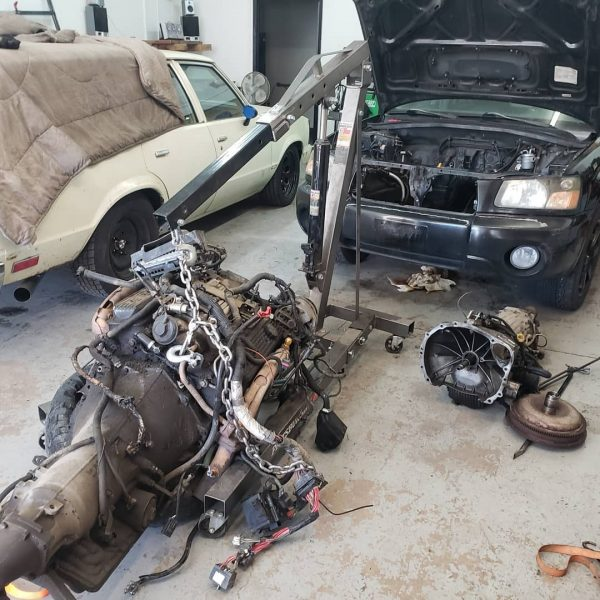 350 ci LT1 V8 and 4L60E transmission going into a 2004 Subaru Forester